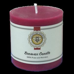 100% Pure Beeswax – 3×3 Burgundy Pillar $10.00
