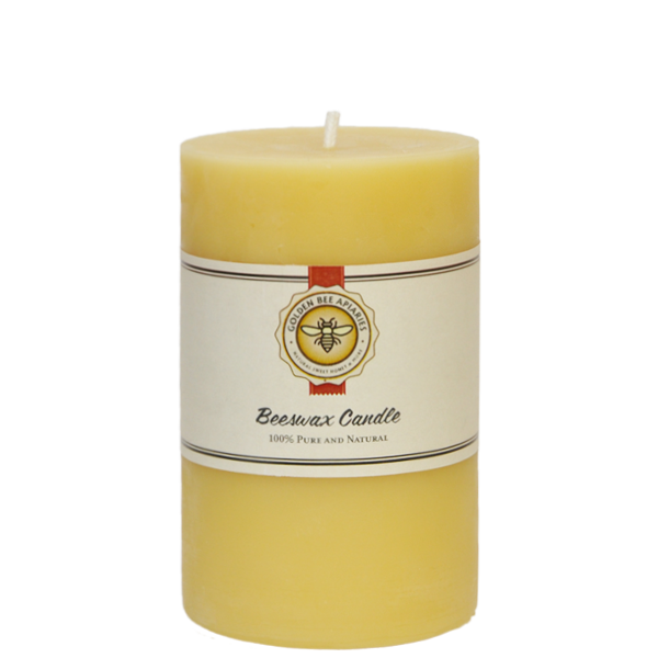 3×5 Natural Beeswax Candle $18.00