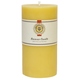 3×6 Natural Beeswax Pillar $20.00