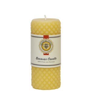 4.25 Textured Beeswax Candle $8.00